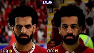 Faces Fifa 18 x faces Fifa 19