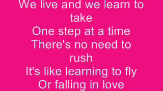 Repeat youtube video Jordin Sparks - One Step at a Time Lyrics