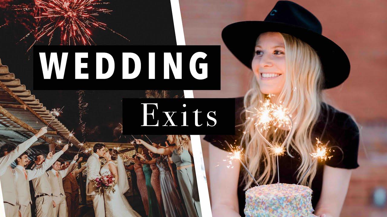 ✨WEDDING EXIT IDEAS | Best Wedding Send Offs | Sparklers