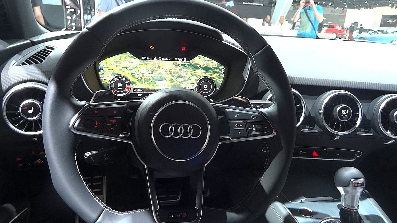 audi tts 2015 in detail interior youtube. Black Bedroom Furniture Sets. Home Design Ideas