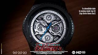 Thor's Hammer : Skeleton II - Watch face for Samsung Gear S3, S2, Sport, Galaxy Watch