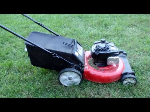 Yard Machines Lawn Mower 550EX Briggs & Stratton Engine - Moving Sale Part I - Nov. 11, 2015