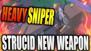 NEW HEAVY SNIPER IS OVERPOWERED! | New Gun in STRUCID in ROBLOX| iBeMaine