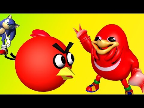 UGANDAN KNUCKLES and ANGRY BIRDS ♫  3D animated  mashup ☺ FunVideoTV - Style ;-))