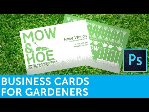 How To Design A Landscape Gardener Business Card In Adobe Photoshop   Solopress Video Tutorial