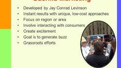 Alternative Marketing Approaches