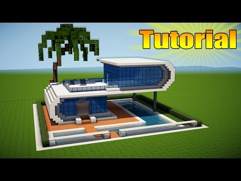 Minecraft Simple  Easy Modern House  Mansion Tutorial  How To - Minecraft modern house 5x5
