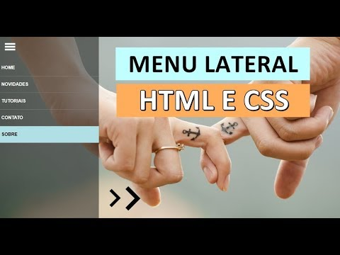 Menu Lateral Com Apenas HTML E CSS