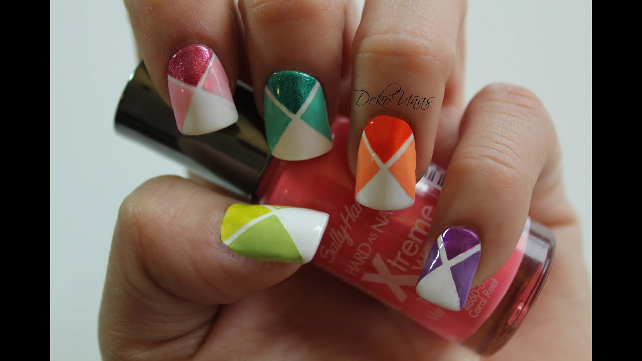 Decoracion de u as colores de la primavera nail art - Decoracion para las unas ...
