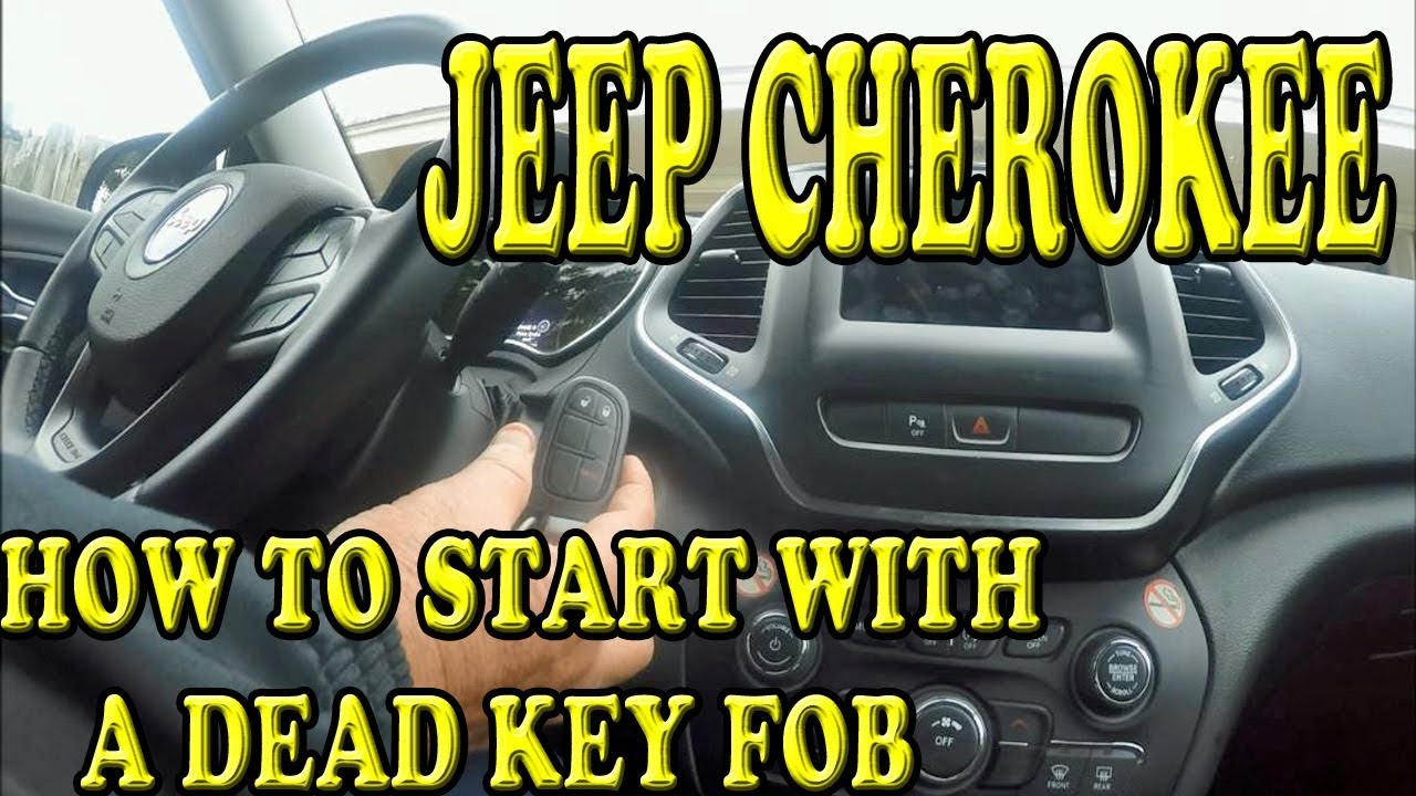 Jeep Cherokee How To Start With A Dead Key Fob Battery Youtube