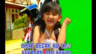 Lagu anak naik becak mega utami