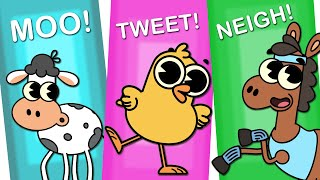 The Animal Sounds Song | On the Farm | Original Song | Nursery Rhymes By KidsCamp