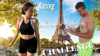 Girlfriend vs Boyfriend: Racing Challenge in Paris **Shocking Finish** -Prankster Couple