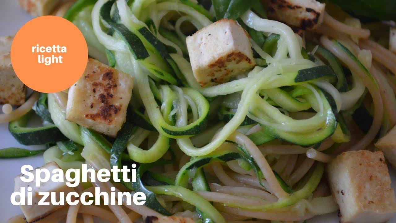 Noodles Ricetta Light.Spaghetti Di Zucchine Ricetta Light Youtube
