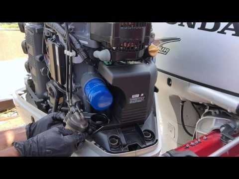 Honda 225 Outboard - Replace High/Low Pressure Fuel Filters ... on