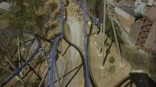 Wild Eagle POV Dollywood REAL Roller Coaster Footage! Front Seat Ride! New 2012 Wing Rider