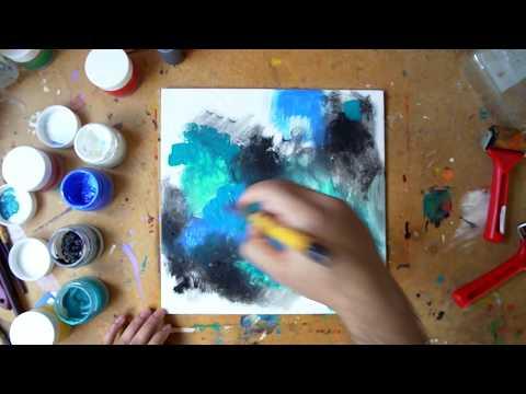 Abstract Painting Technique | Fine Art | Demo | Acrylic Art Series: Video 7