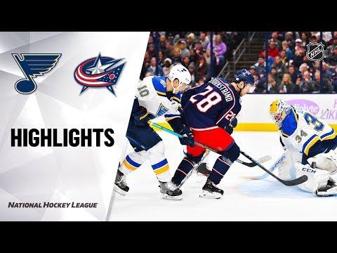NHL Highlights | Blues @ Blue Jackets 11/15/19