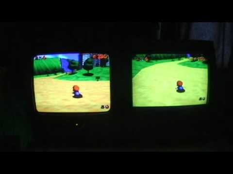 N64 PAL vs NTSC Comparison - Super Mario 64