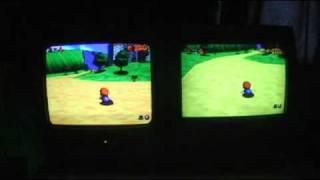 N64 PAL vs NTSC Comparison - Super Mario 64