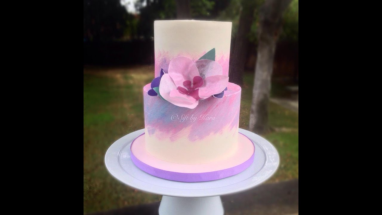 Painted Buttercream Cake - YouTube
