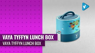 Vaya Tyffyn 20 Oz Vacuum Insulated Lunch Box - 2 Polished Stainless Steel Food Storage Containers