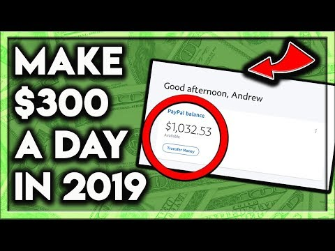 How To Make Money Online 2019! ($300 A Day!)