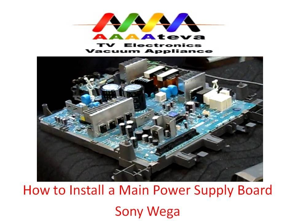 Main Power Supply Board Installation On Sony Wega Tv Youtube