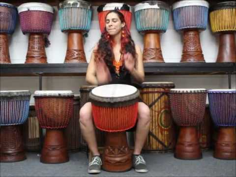 video:Drumskull Drums & Sahar K. - Guinea Lenke wood Djembe