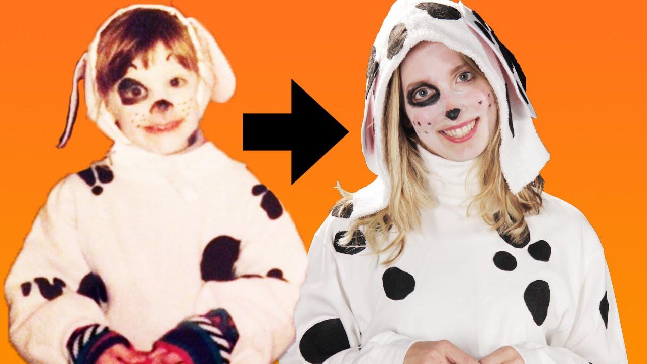 people recreate their childhood halloween costumes