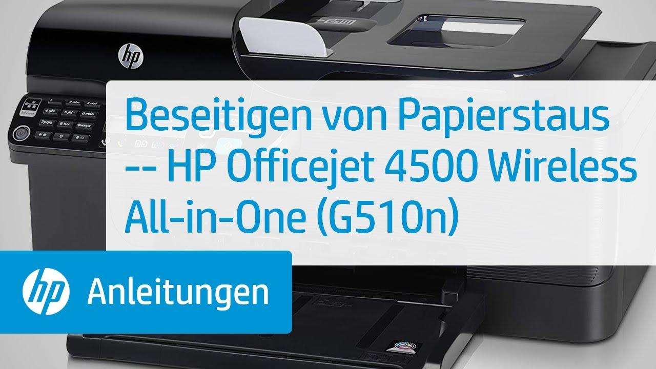Beseitigen Von Papierstaus Hp Officejet 4500 Wireless