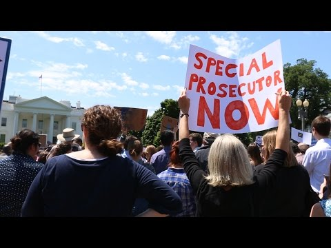 After Trump fired FBI Director Comey, protesters feel 'democracy is at stake'