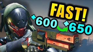 Destiny 2: LEVEL UP FAST in BLACK ARMORY! - Get to Max 650 Power Faster!