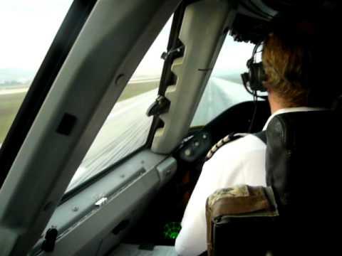 B747 Take Off at Izmir, Cockpit view.