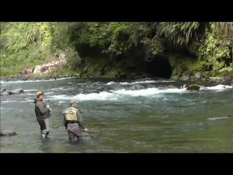 Raft Fishing Trip On The Tongariro River January 2013