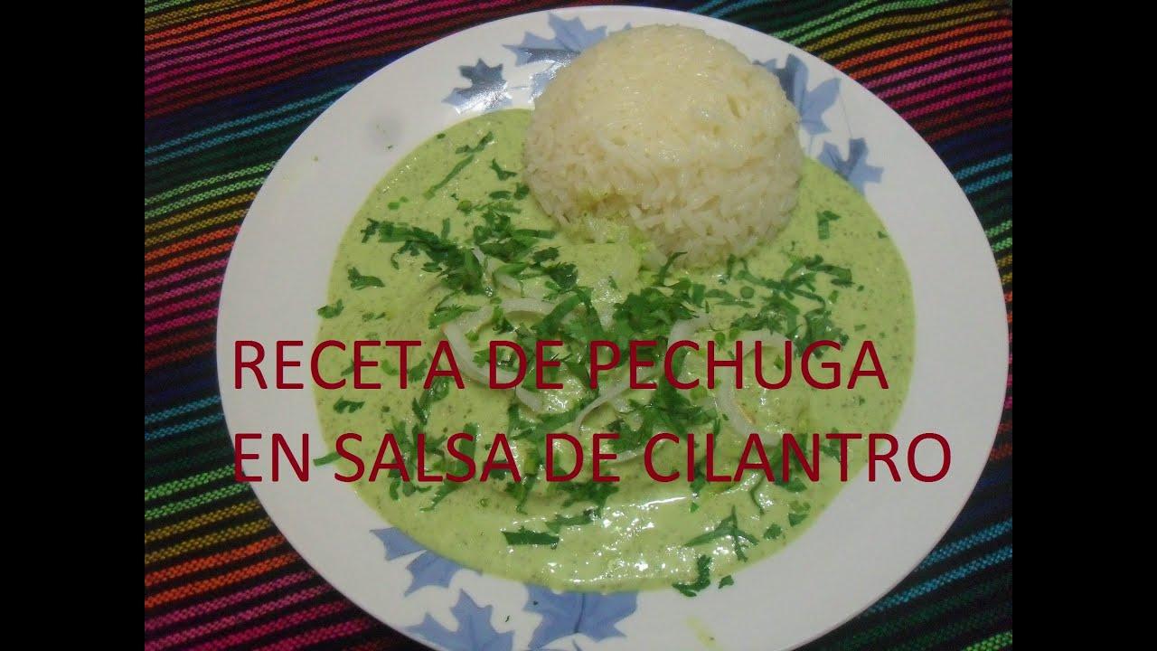 Receta de pechugas de pollo en salsa de cilantro los - Pechuga d pollo en salsa ...
