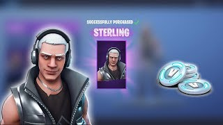 Spending 2,600 Fortnite V-Bucks NEW Fortnite item Shop Today! EPIC 'STERLING' Skin (Fortnite)