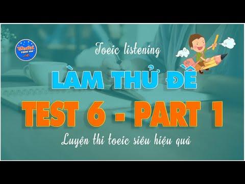 V1.43🔴 LÀM THỬ ĐỀ TOEIC PART 1 - TEST 6 - THAKI TOEIC 900+