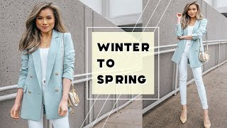 10 Winter to Spring Transitional Style Tips! | Early Spring Outfit Ideas | Miss Louie
