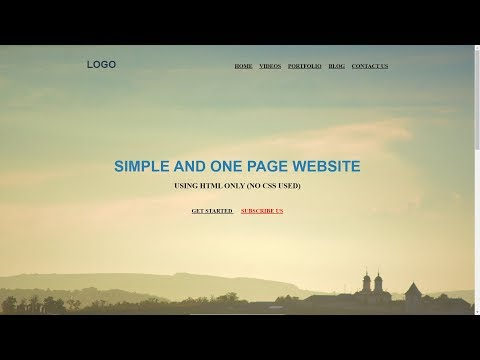 SImple And One Page Website Using HTML Only No CSS Used