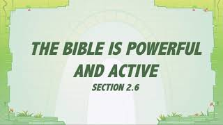T&T: Grace In Action 2.6 - The Bible is Powerful and Active