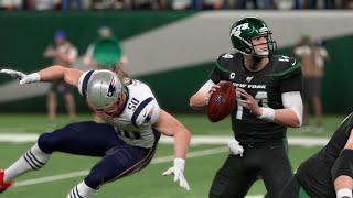 NFL Monday Night Football - New York Jets vs New England Patriots  Week 7 (NFL 10/21/2019) Madden 20