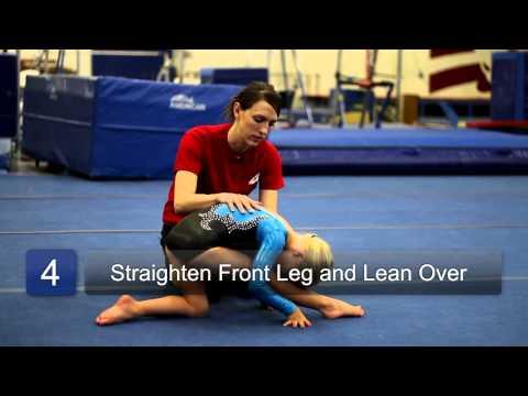 How to Do the Splits for Beginner Gymnasts : Beginning Gymnastics