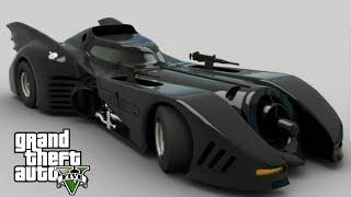 Driving batman car in grand thief auto V