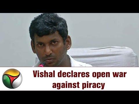 Actor Vishal's open War against TamilRockers Piracy