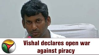 Actor Vishal's open War against TamilRockers Piracy