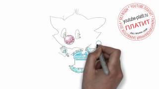 Кошки нарисованные карандашом  Как нарисовать кошку для детей за 24 секунды