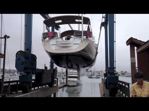 Jeanneau 53 Haul out for Survey & Hull design profile By: Ian Van Tuyl at IVTyachtsales.com