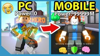 Becoming The Best Mobile Player In Roblox Superhero City