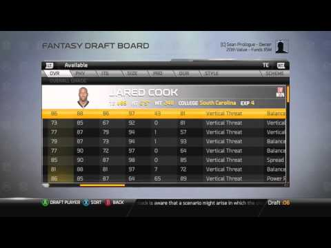 Madden 25 Fantasy Draft Franchise - Colts Relocated?